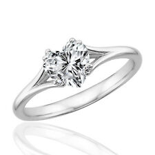 Silver Dew 925 Sterling Silver Valentine Special Heart Solitaire Ring For Ladies