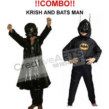 COMBO of Bat Man & Krrish kids fancy Dress Costume B'Day Gift Boy CA121