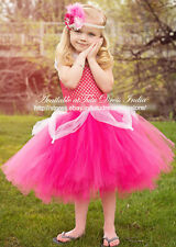 DARK PINK TUTU DRESS FOR GIRL INFANTS - BIRTHDAY, PARTY