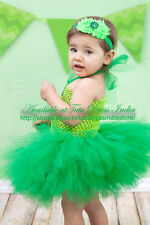 GREEN TUTU DRESS FOR GIRL INFANTS - BIRTHDAY, PARTY
