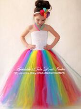 MULTI COLOR TUTU DRESS FOR GIRL INFANTS - BIRTHDAY, PARTY