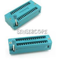 28P 28-Pin 2.54mm Universal Narrow/Wide ZIF Test DIP IC Socket Connector