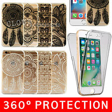 Shockproof 360º Silicone Gel TPU Henna Phone Case Cover For Apple iPhone 6 6s 7