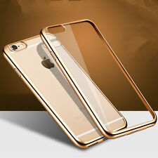 Ultra-Thin Electroplate Crystal Clear Soft TPU Back Case For Apple iPhone 7 Plus