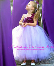 LAVENDER TUTU DRESS REAL PICTURE FOR GIRL INFANTS - BIRTHDAY, PARTY, FREE BAND