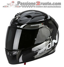 Casco integrale moto Scorpion Exo 710 Air Cerberus nero bianco