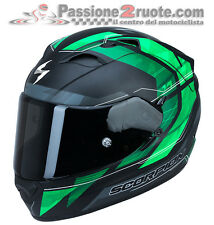 Casco Helmet Scorpion Exo 1200 Air Hornet nero opaco verde black green S M L XL