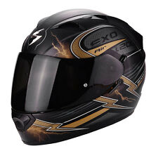 Casco integrale moto Scorpion Exo 1200 Fulgur nero opaco oro black matt gold