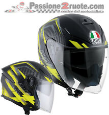 Casco Agv K5 Jet urban hunter nero opaco matt black yellow fluo helmet casque