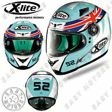 CASCO INTEGRALE FULL FACE X-LITE X-802RR REPLICA 104 D.KENT AQUAMARINE