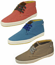 FISH N CHIPS UOMO BY BASE LONDON IN TELA COI LACCI STIVALE SCARPE TRAINER CASUAL