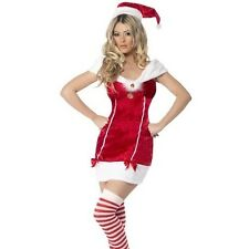 Ladies Christmas Fancy Dress Stocking Filler Santa Lady Costume by Smiffys New