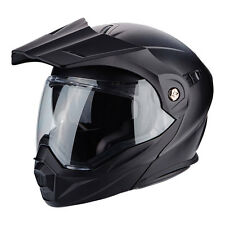 Casco modulare apribile moto Scorpion ADX-1 nero opaco matt black