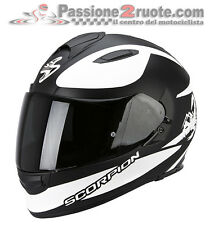 Casco Scorpion Exo 510 Sublime nero  bianco integrale moto M L