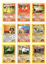 RARE POKEMON - 1st Edition - Gym Heroes - COMMON CARDS - U PICK MINT PACK FRESH