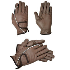 Riders Trend Embossed synthetic PU Riding gloves with reflective binding