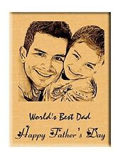 Father's Day Gift - Personalized Engraved Photo Plaque