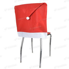 Red Santa Hat Chair Covers - DINING CHAIR Christmas Table Decorations