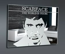 SCARFACE AL PACINO Motif Mirror art Picture Mural art canvas deco