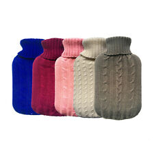 Portable #L Hot Water Bag Hand Feet Warming Bottles Bag Cover Knit Flannel New