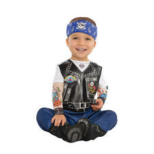 Baby Biker Hells Angel Fancy Dress Costume Halloween Kids Outfit 0-24 Months