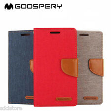 MERCURY CANVAS DIARY WALLET FLIP FLAP CASE COVER FOR SAMSUNG GALAXY TAB A 8.0