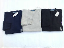 BNWT POLO RALPH LAUREN MEN'S  Cotton Crewneck Sweater jumper Long Sleeve RRP£108
