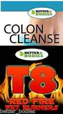Colon Cleanse T8 Fire Extra Strong Potent Weight loss Diet Supplements Pills