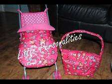 star quilted waterproof dolls pram buggy stay put blanket or doll changing bag