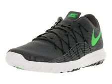 Nike Brand Mens Original Flex Fury Grey Lime Running Sports Shoes