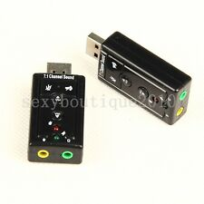 New USB 7.1 Channel 3D Virtual External Audio Sound Card Adapter For Notebook PC