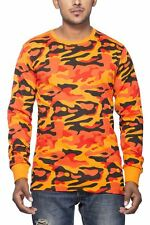 Clifton Mens Army T-Shirts Full Sleeve R-Neck-Bright Orange