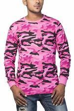 Clifton Mens Army T-Shirts Full Sleeve R-Neck-Light Pink