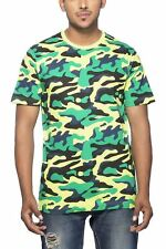 Clifton Mens Army T-Shirts Half Sleeve R-Neck-Lime Green