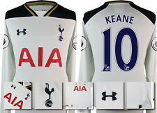 *16 / 17 -NEW ARMOUR; TOTTENHAM HOME SHIRT LS + PATCHES / KEANE 10 = SIZE*