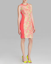 **NEW** TED BAKER ABENONY JACQUARD FLORAL CORAL FITTED DRESS - RRP £169 Sold Out