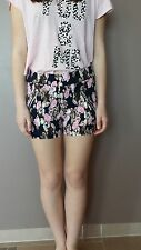 Ladies Girls Summer Multi Coloured Floral stretchy Shorts
