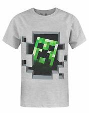 Official Minecraft Creeper Inside Boy's T-Shirt