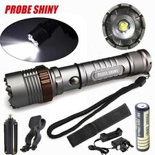 5000LM Tactical Flashlight XM-L T6 LED Zoomable Torch Lamp+Battery+Charger Lot