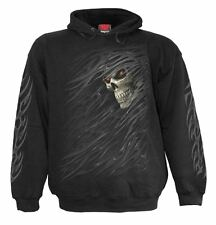Spiral Direct TRIBAL DEATH, Warm Hoody Black|Tribal|Reaper|Rips|Skeleton