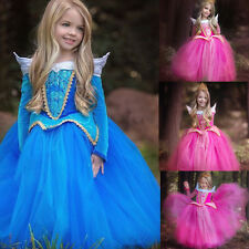 HOT Princess Flower Girl Dresses Pageant Dance Birthday Party Prom Ball Gowns