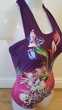 BNWT Butterfly by Matthew Williamson Tiger Lily Cross Front Swimsuit in Multi
