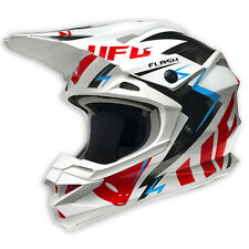 2017 UFO Interceptor 2 Motocross MX Enduro Helmet - Flash - White Black Red
