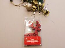 Christmas Tree Decorations Hanging ornaments glitter reindeer star silver red