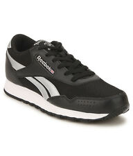 Reebok Mens Original Classic Protonum Black Silver Casual Sports Shoes