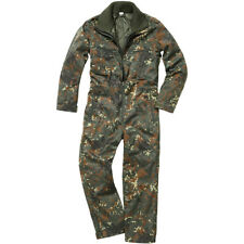Brandit Panzerkombi Overall Tactical Army Coverall Mens Work Suit Flecktarn Camo