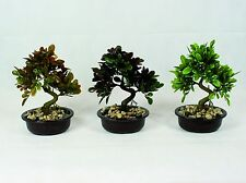 Bonsai Tree in Oval Pot, Artificial Plant Decoration for Office and Home 25 cm