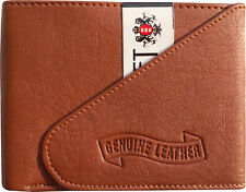 Pure Leather Wallet Purse for Men Gents with Card Slots - BROWN
