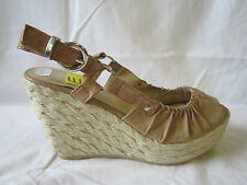 "DA DONNA SPOT ON SANDALI CON ZEPPA ""BEIGE"" 10.2cm APPROX, ARTIFICIALE"