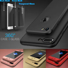 HYBRID 360 SHOCKPROOF SILICONE + TEMPERED GLASS COVER FOR APPLE IPHONE 6S 7 PLUS